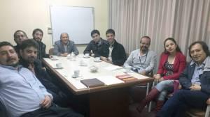 Reunión en la Universidad Nacional Federico Villareal (Lima, Perú)