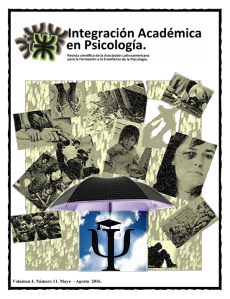 Integracion Acadmica en Psicologa Vol4Num11
