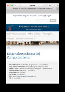 Doctorado Ciencias del Comportamiento