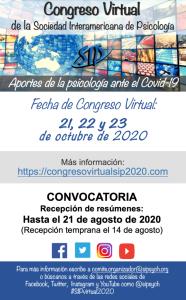 Cartel Congreso Psicología y Covid-19